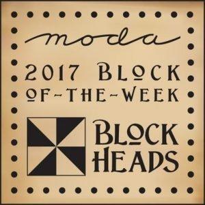 Blockhead quilters block logo