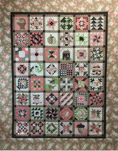 Blockheads brown quilt